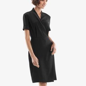 Black M. M. Lafleur wrap style dress